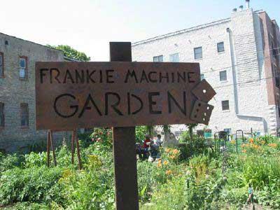 sign for frankie machine garden, chicago, IL