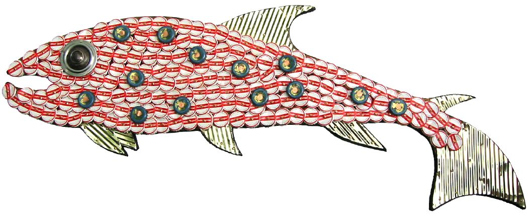 Bottle Cap Mosaic Fish No. 1, 2005