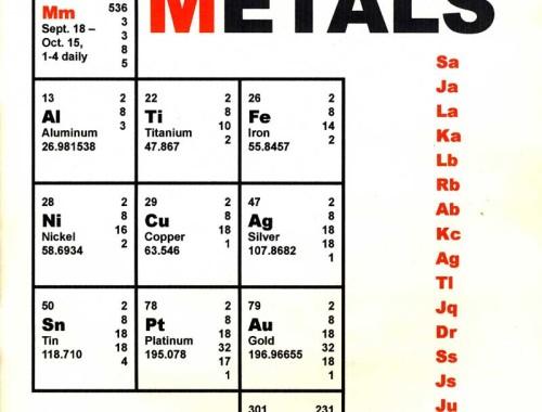 Malleable Metals Exhibit Catalog, Jordan River Arts Council, East Jordan, MI, 2004, 1, 17