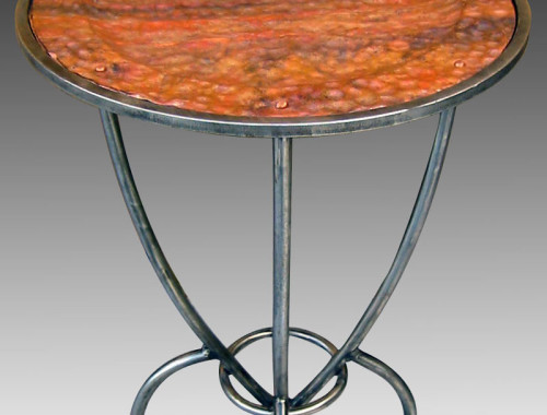 Rocket Stool steel and copper stool