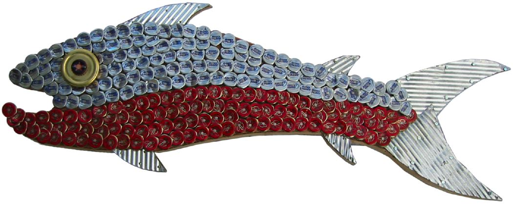 Bottle Cap Mosaic Fish No. 2, 2005