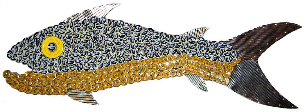 Bottle Cap Mosaic Fish No. 3, 2005