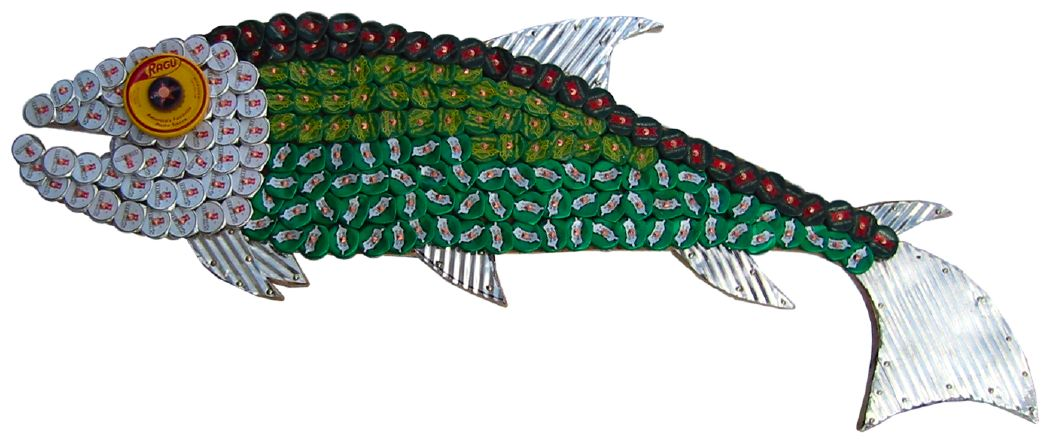 Bottle Cap Mosaic Fish No. 4, 2005