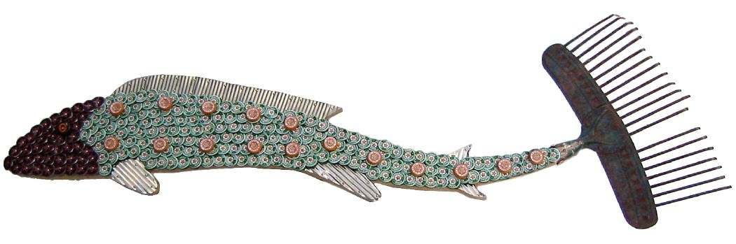 Bottle Cap Mosaic Fish No. 5, 2005
