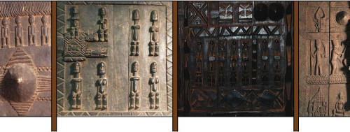Dogon door narrative fence concept sketch