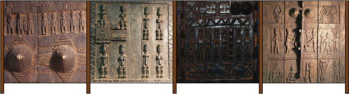 Dogon door narrative fence concept sketch