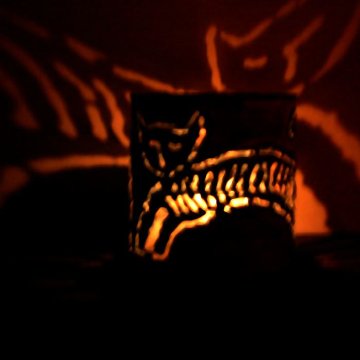 CANtern tin luminary cat design