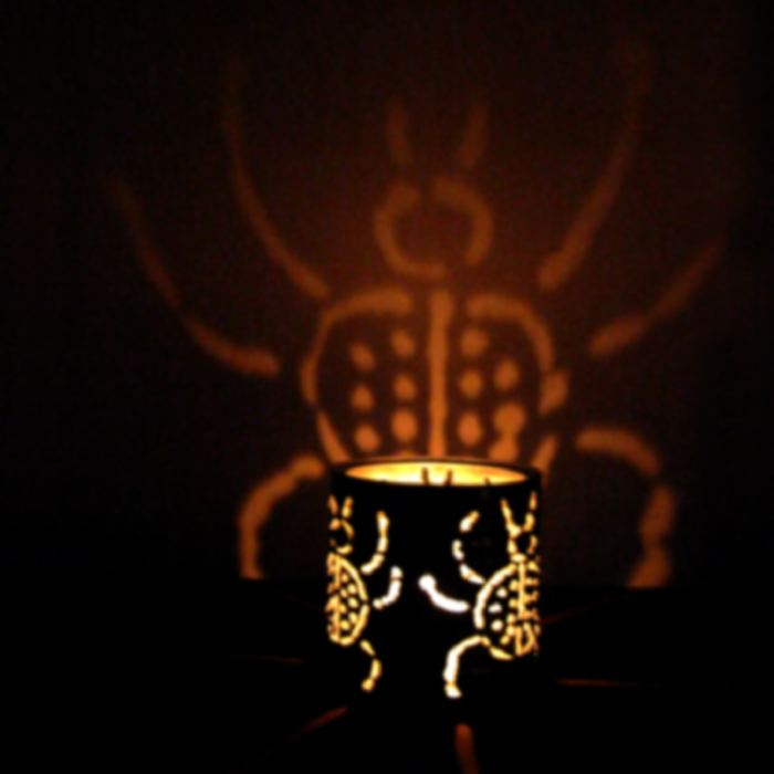 CANtern tin luminary scarab design