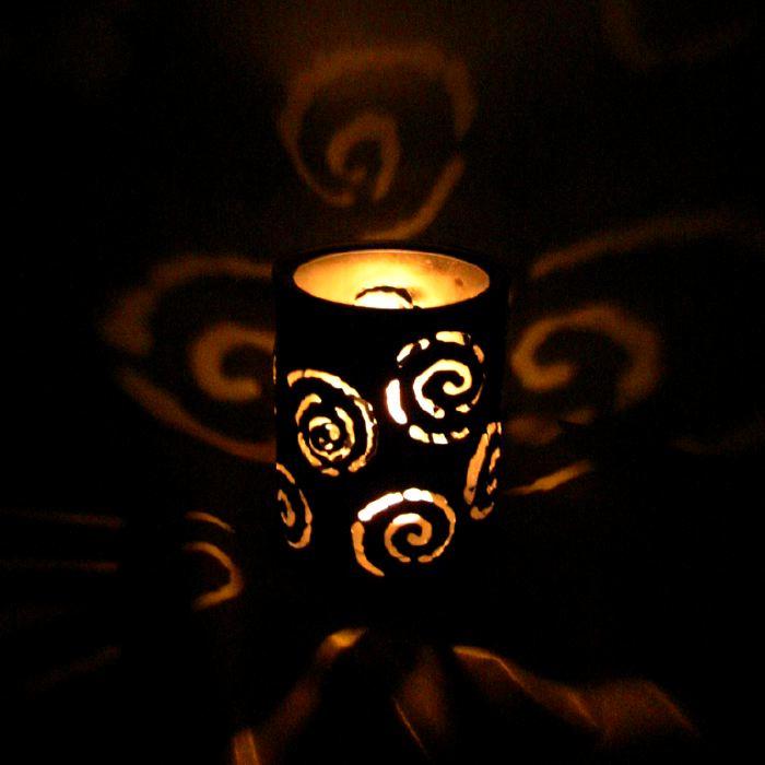 CANtern tin luminary spiral design
