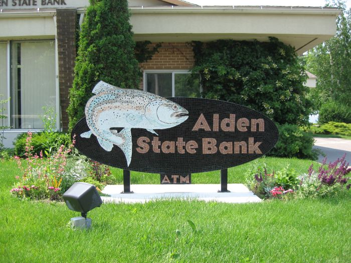 Alden State Bank Mosaic Sign