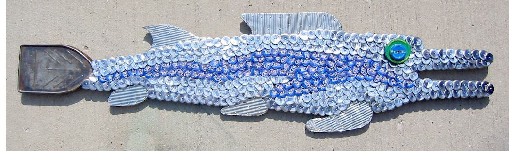 Bottle Cap Mosaic Fish No. 8, 2005