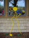 The Flirt, Yellow Dancer Sculpture