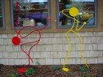 Crane and Flirt Sculptures