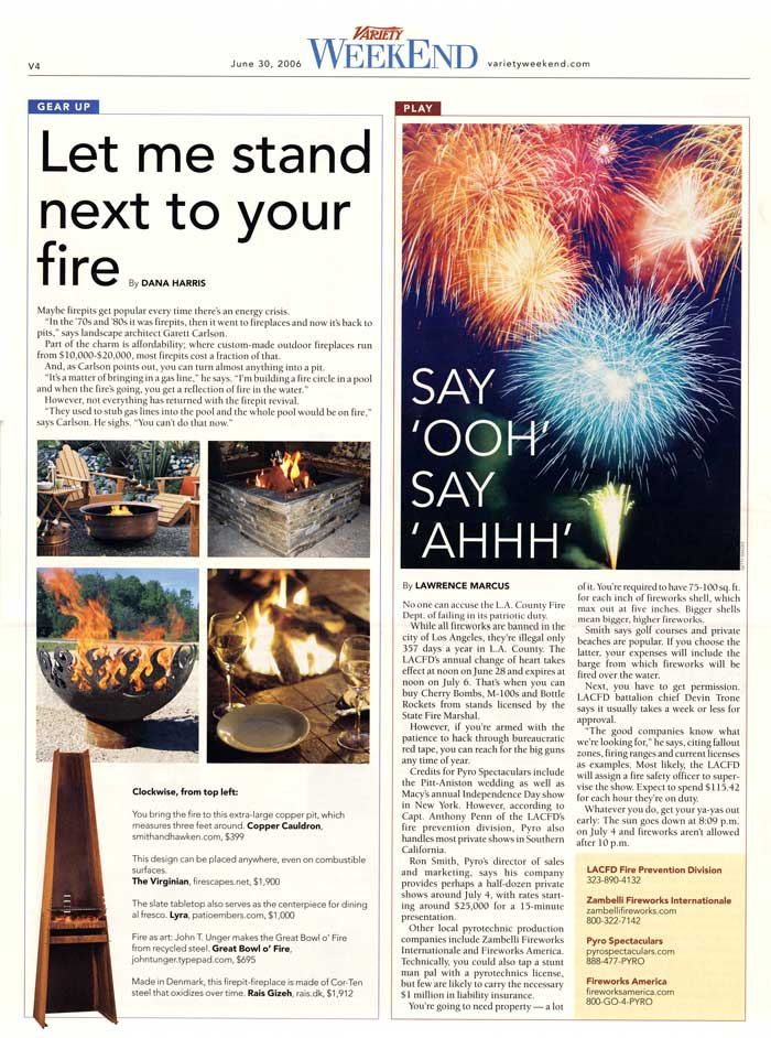great bowl o fire™ featured in variety
