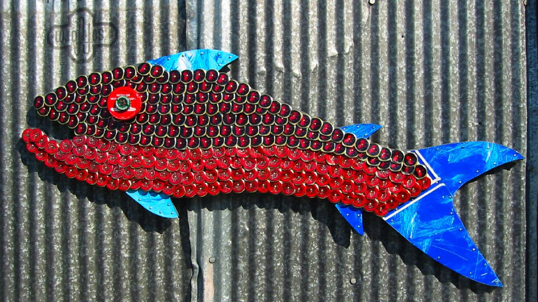 Bottle Cap Mosaic Fish No. 15, 2006