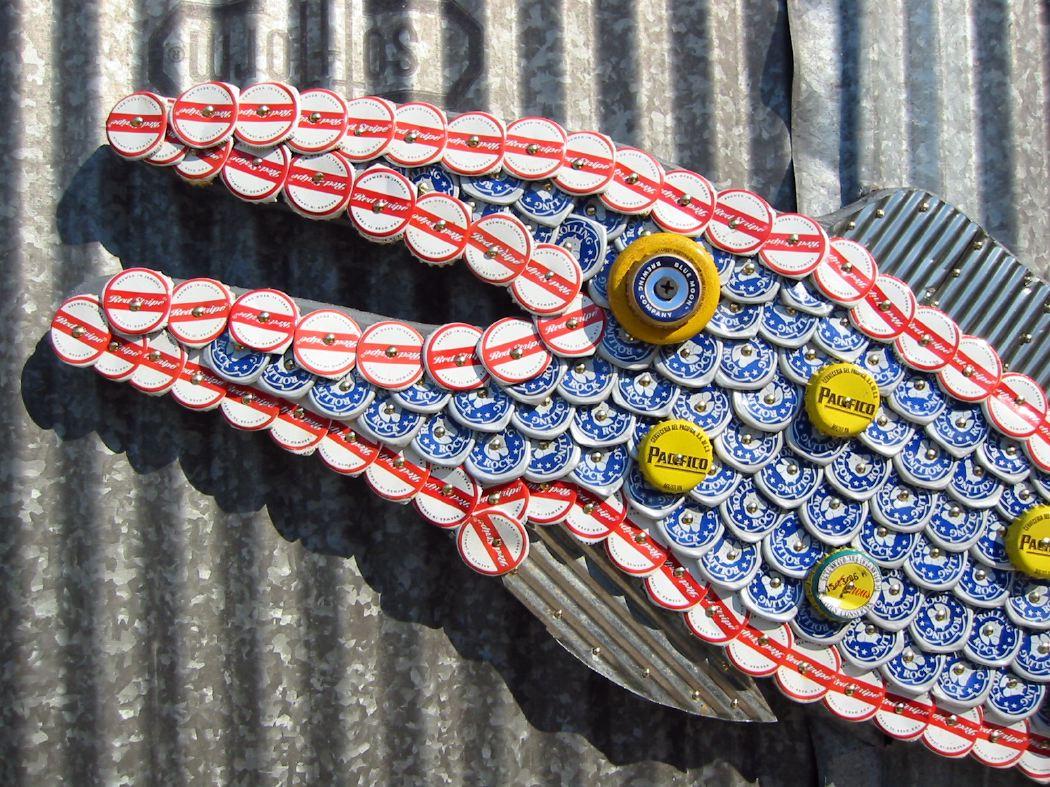 Bottle Cap Mosaic Fish No. 17, 2006
