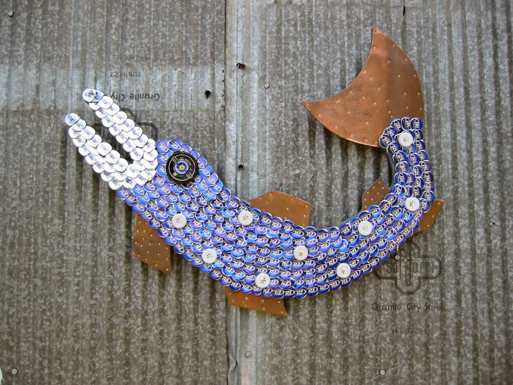 Bottle Cap Fish Mosaic No. 21, 2006