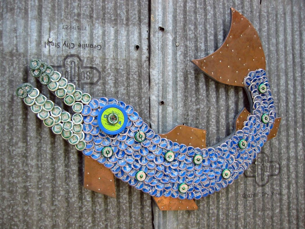 Bottle Cap Mosaic Fish No. 22, 2006