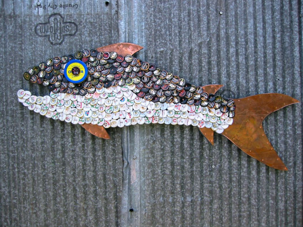 Bottle Cap Mosaic Fish No. 24, 2006