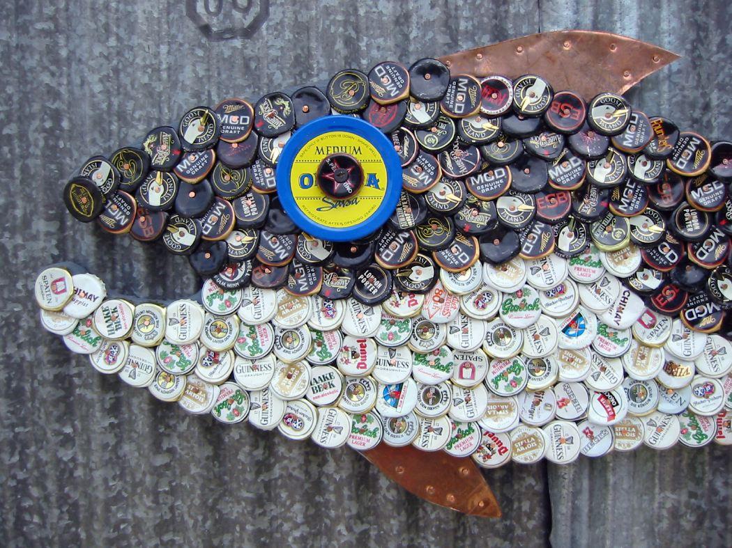 Bottle Cap Mosaic Fish No. 24, 2006