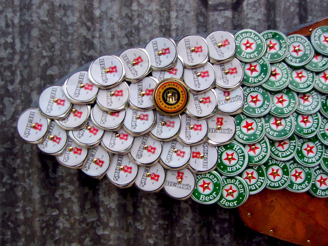 Bottle Cap Mosaic Fish No. 26, 2006