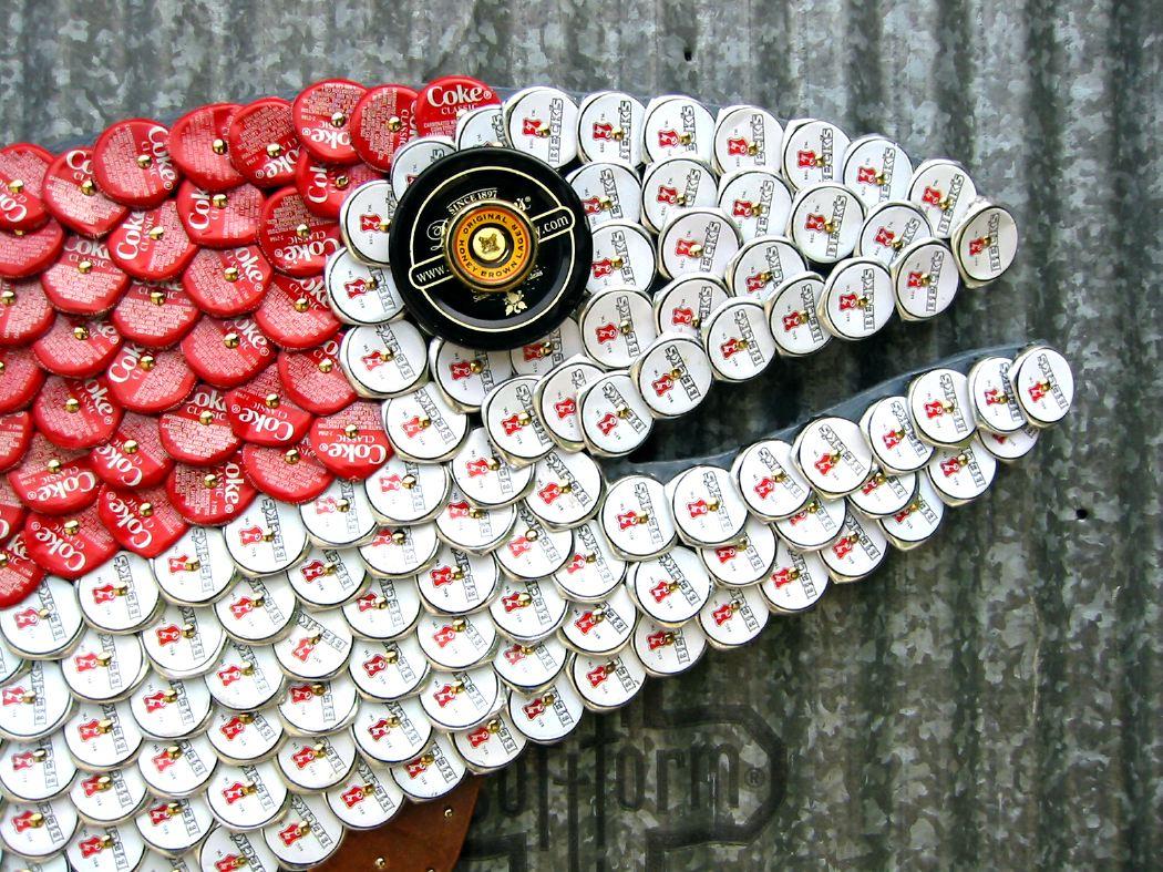 Bottle Cap Mosaic Fish No. 28, 2006