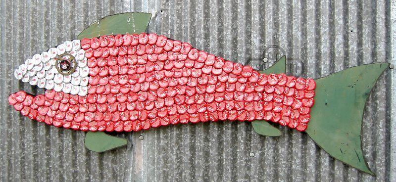 Bottle Cap Mosaic Fish No. 30, 2006