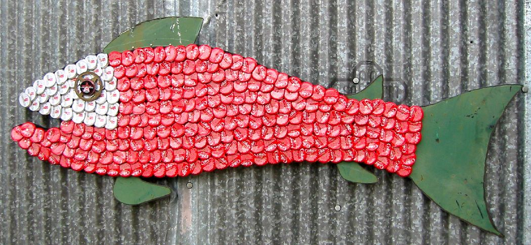 Bottle Cap Mosaic Fish No. 30, 2006