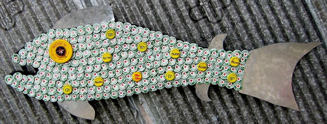 Bottle Cap Mosaic Fish No. 32, 2006