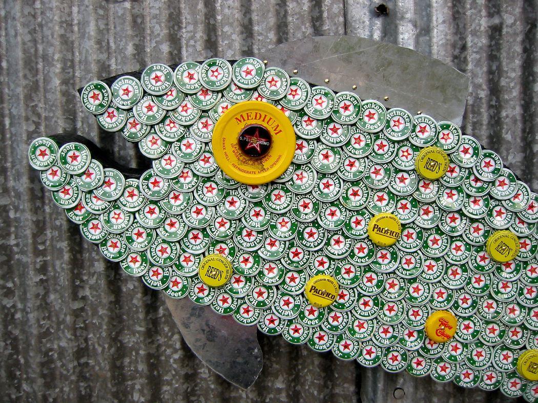 Bottle Cap Mosaic Fish No. 32, 2006