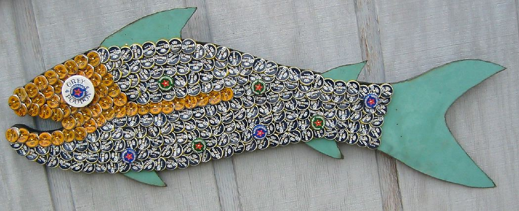Bottle Cap Mosaic Fish No. 34, 2006