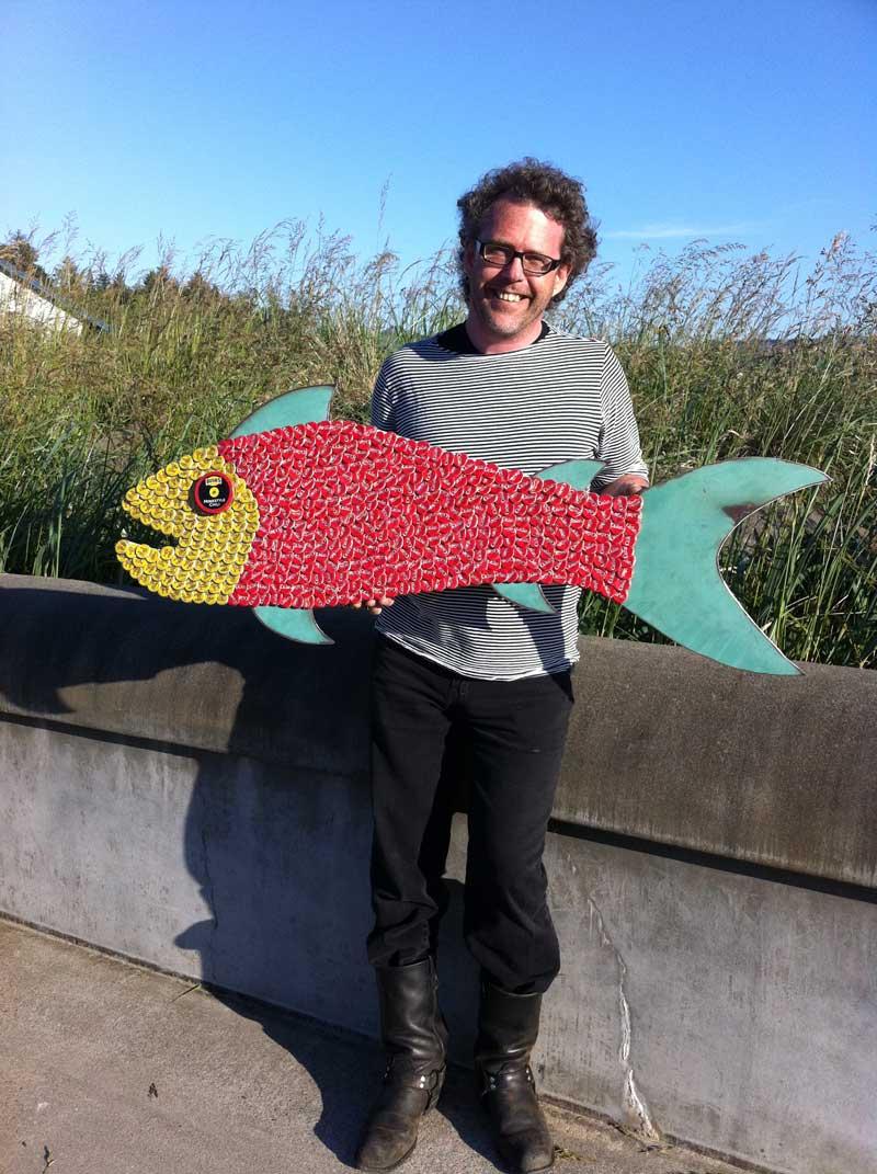 Bottle Cap Mosaic Fish No. 55, 2011