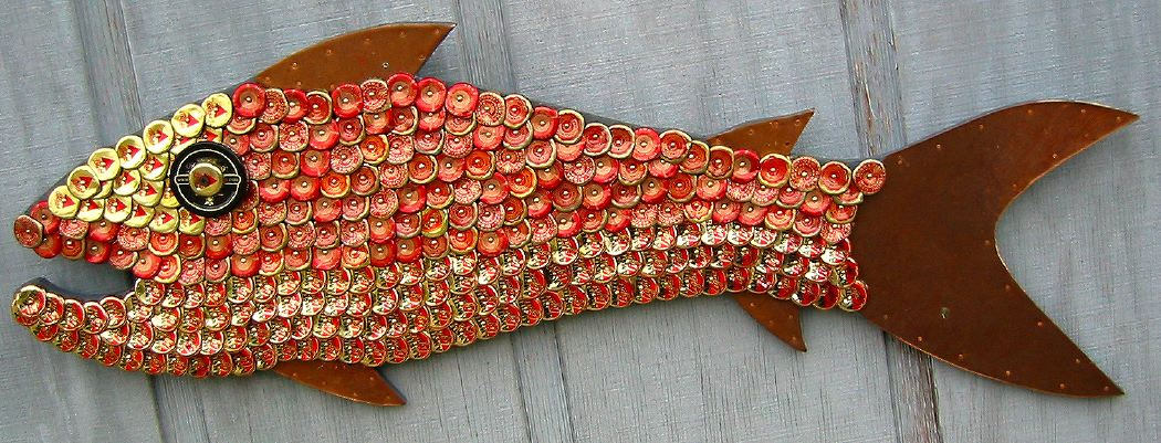 Bottle Cap Mosaic Fish No. 36, 2006