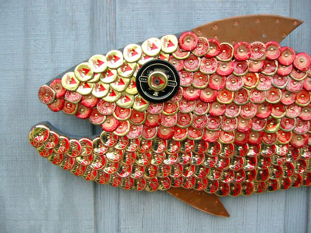 Bottle Cap Mosaic Fish No. 36, 2006