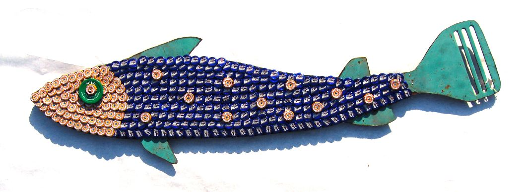 Bottle Cap Mosaic Fish No. 38, 2006