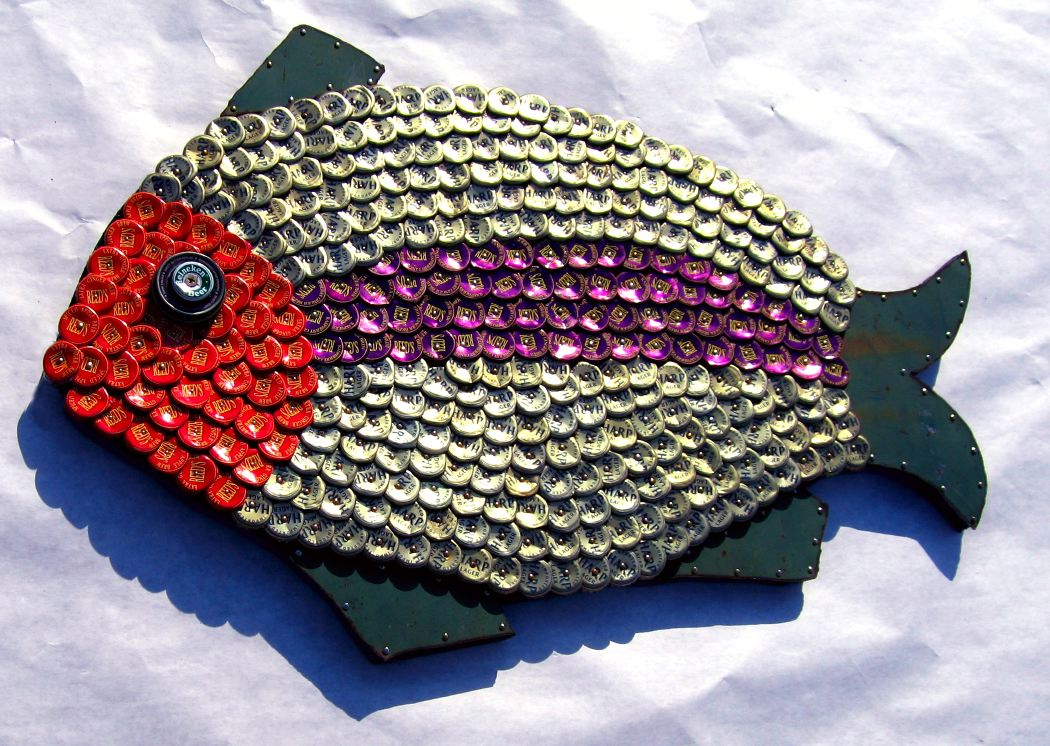Bottle Cap Mosaic Fish No. 40, 2006