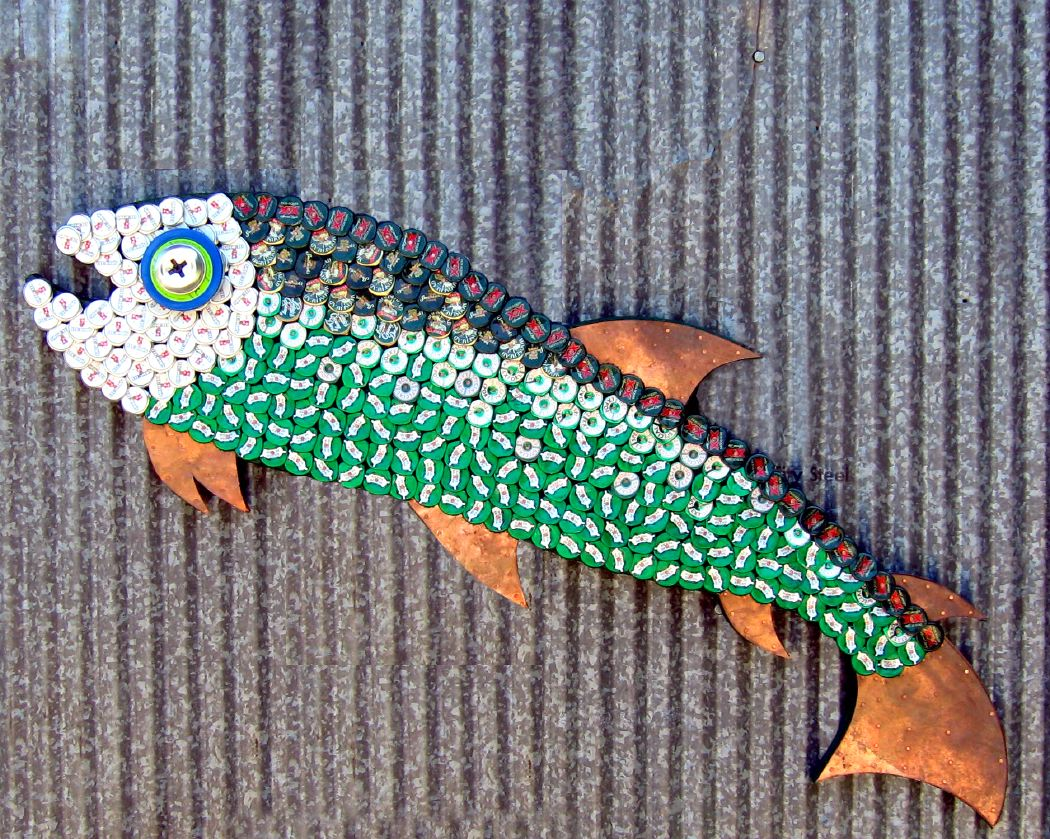 Bottle Cap Mosaic Fish No. 42, 2007