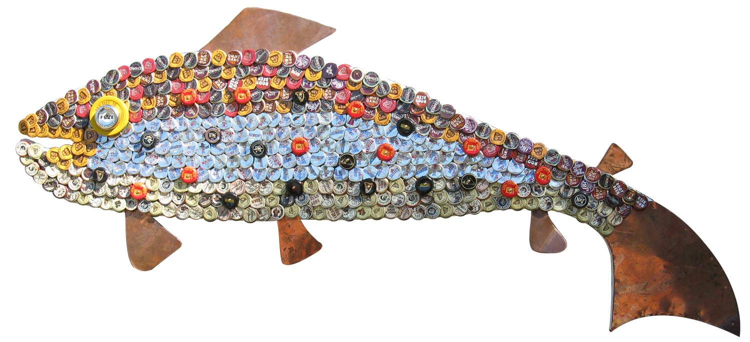 Bottle Cap Mosaic Fish No. 43, 2008