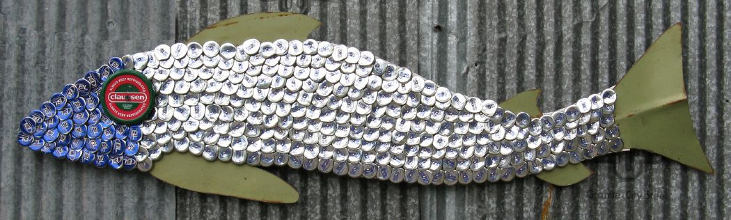 Bottle Cap Mosaic Fish No. 46, 2006