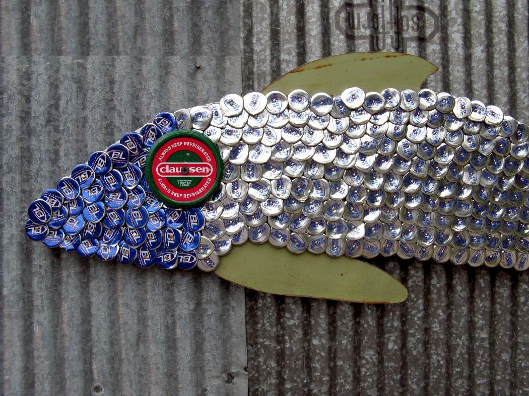 Bottle Cap Mosaic Fish No. 46, 2006