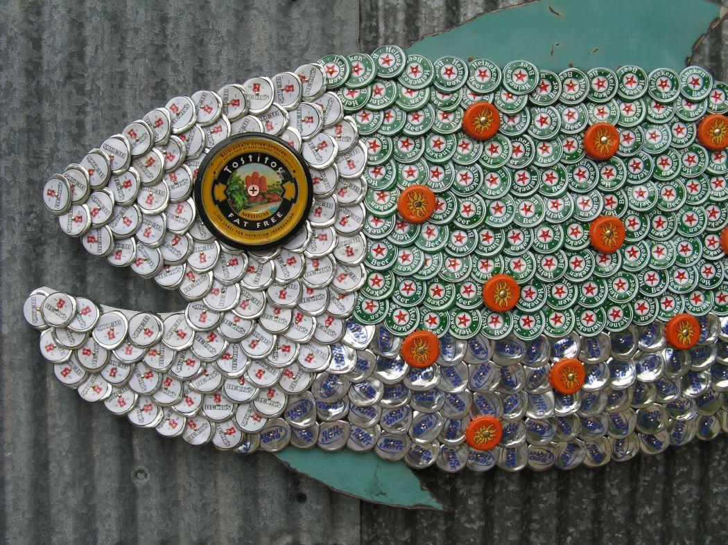 Bottle Cap Mosaic Fish No. 47, 2008