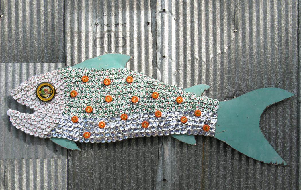 Bottle Cap Mosaic Fish No. 47, 2008