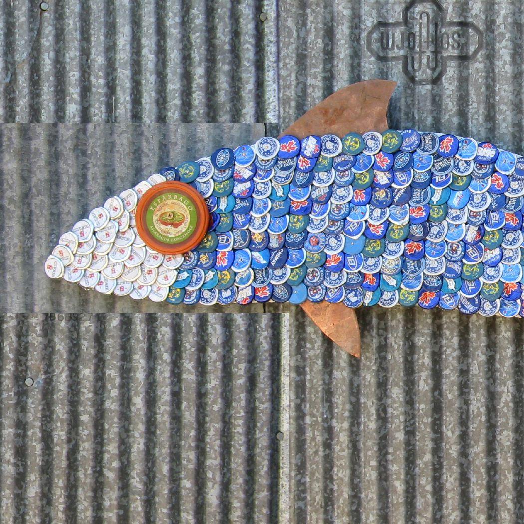 Bottle Cap Mosaic Fish No. 48, 2008