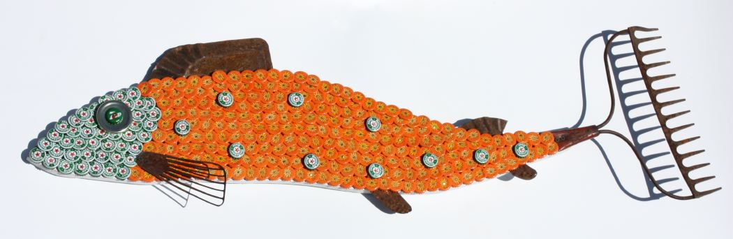 Bottle Cap Mosaic Fish No. 50, 2011