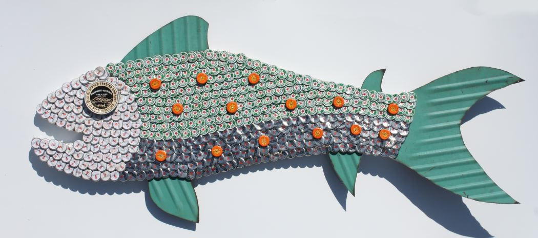 Bottle Cap Fish Mosaic No. 51, 2010
