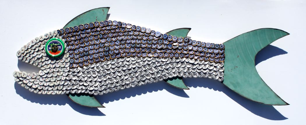 Bottle Cap Mosaic Fish No. 52, 2011