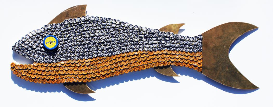 Bottle Cap Mosaic Fish No. 53, 2011