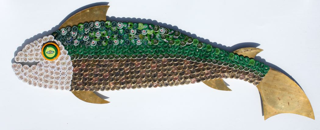 Bottle Cap Mosaic Fish No. 54, 2007