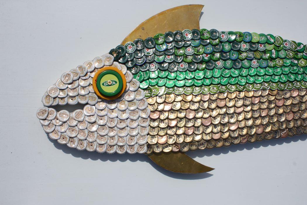 Bottle Cap Mosaic Fish No. 54, 2007