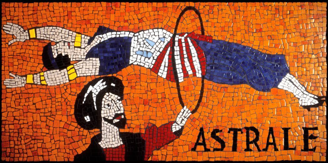 La Femme Astrale, 1999 ceramic tile  mosaic table